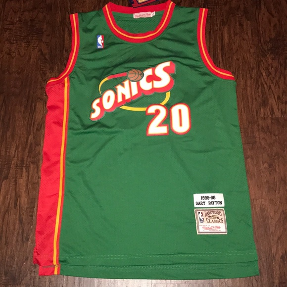 sports shoes 2a17a c3570 Vintage Gary Payton Sonics Jersey Mens Large NWT
